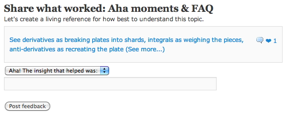Site Update: Ahas and FAQs for articles