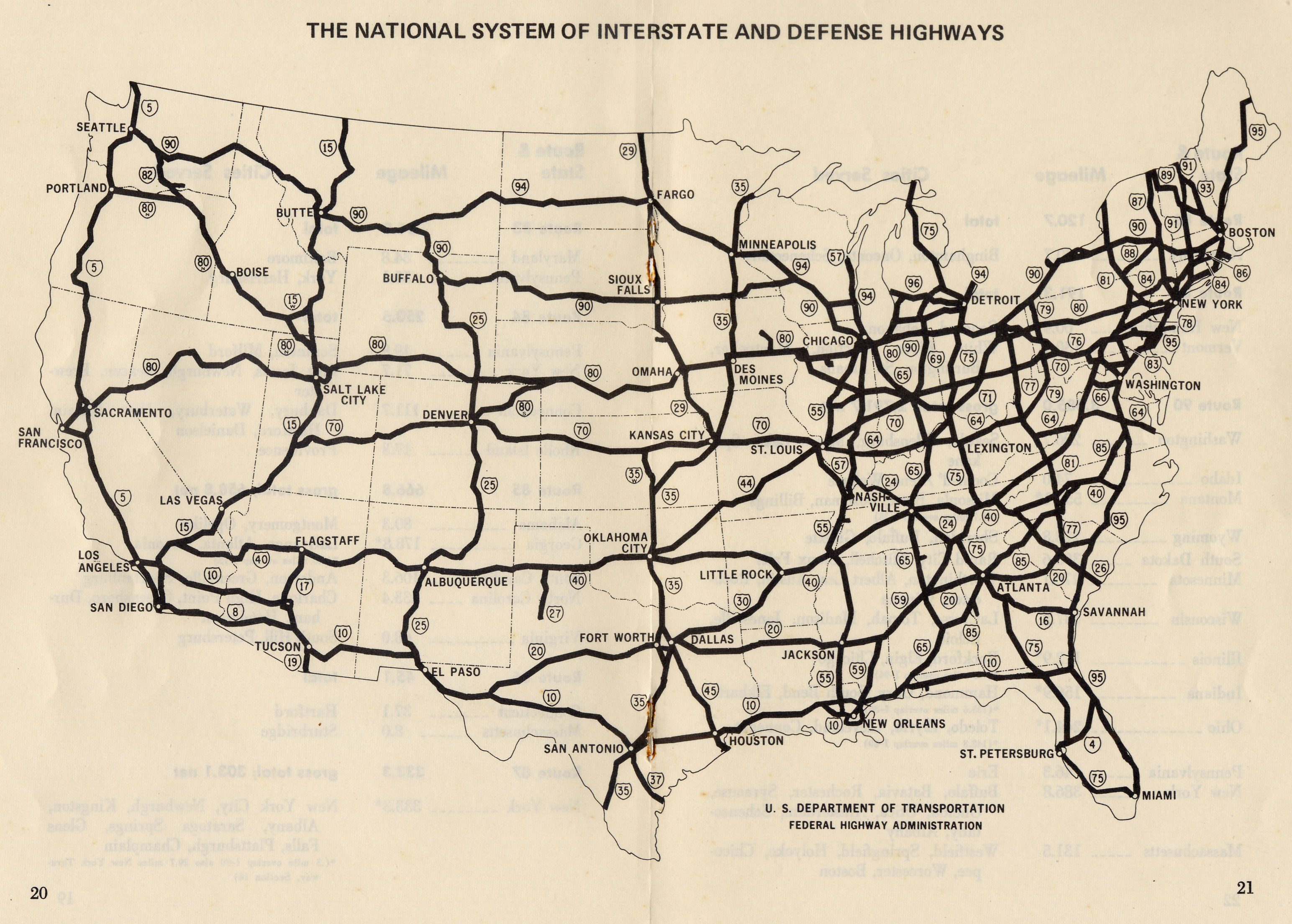 US Interstate I Map Miami Florida To Houlton Maine US Route - Us road map of states