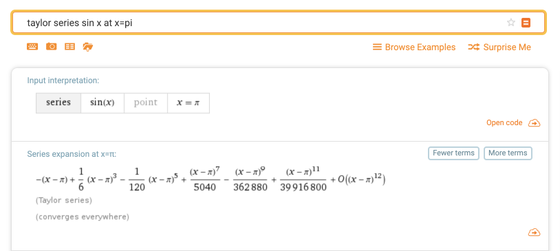 taylor series sin x at x=pi - Wolfram|Alpha 2019-01-18 16-45-04