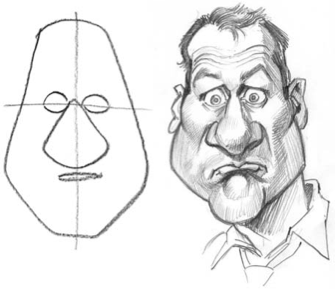 examples of caricature in writing