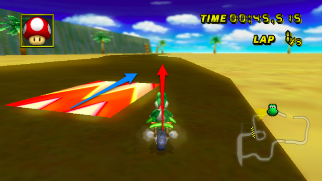 Mario Kart Dot Product Example