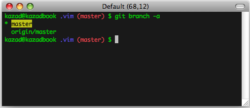 git branch highlighting