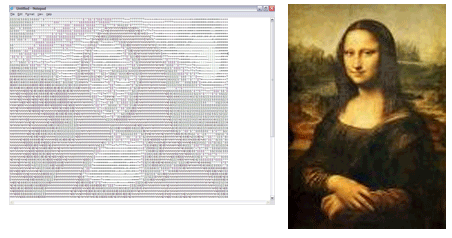 mona lisa ascii data